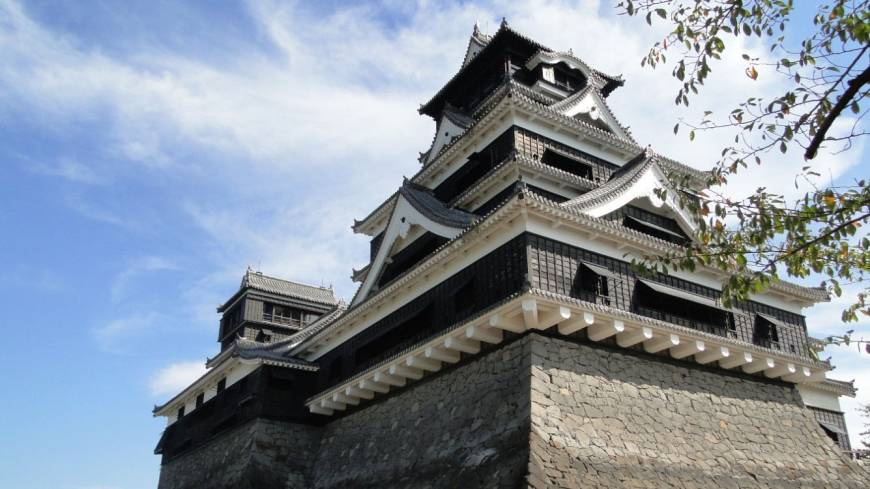 Fabricated fortress: Kumamoto Castle, one of the most popular in Japan, is actually a reconstruction, the original having been razed during a rebellion in the late-19th century.