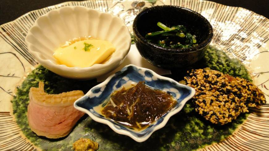 A sampling of appetizers from a dinner at Senri.