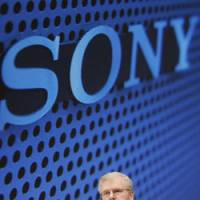 The plan: Sony Corp. Chairman Howard Stringer speaks at a news conference Thursday in Minato Ward, Tokyo. | KYODO PHOTO