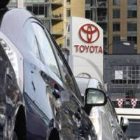 Overstock: Unsold 2010 Toyota Prius cars sit on the lot of a Seattle dealership Thursday. | AP PHOTO