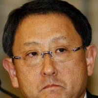 Hot seat: Toyota Motor Corp. President Akio Toyoda holds a news conference in Tokyo last Wednesday. | AP PHOTO