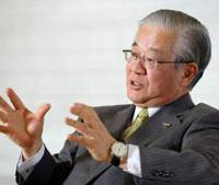 Waiting game: Masayuki Oku, chairman of Sumitomo Mitsui Financial Group Inc. and the Japanese Bankers Association, speaks during an interview in Tokyo on Tuesday. | BLOOMBERG