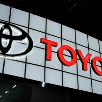 Mark of quality: Toyota's logo is displayed at the New York International Auto Show in New York on April 5. | BLOOMBERG
