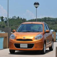 Made by Japan: A Nissan Motor Co. March compact manufactured in Thailand appears in an undated handout  photograph provided to the media in July 2010. | BLOOMBERG