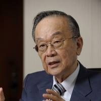 Property mogul: Akira Mori, president of Mori Trust Co., is interviewed recently in Tokyo. | BLOOMBERG