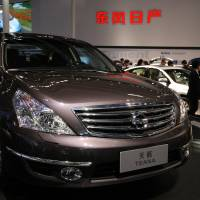 Kick the tires: A Nissan Motor Co.  Teana sedan is displayed at the Beijing Auto Show in April 2010. | BLOOMBERG