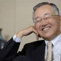 Looking to buy: Yoshihiko Miyauchi, chairman and CEO of Orix Corp., is interviewed Monday in Tokyo. | BLOOMBERG