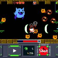 Getting a bit: A screen grab from 'Gero Blaster,' an iOS game by Kyoto-based indie developer Studio Pixel. | STUDIO PIXEL