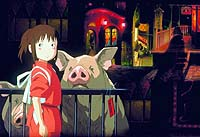 Director Hayao Miyazaki's 'Spirited Away,' a still of which is shown here, won the Oscar for best animated movie. | KYODO PHOTO, COPYRIGHT 2001 NIBARIKI-TGNDDTM
