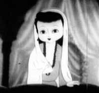 This still is from 'Princess of Baghdad,' the first animated film made in Japan after World War II.