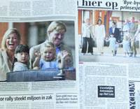 Dutch welcome royals under cloud of WWII issues