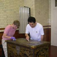 Joint effort preserves rare lacquer chest