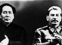 Mao Zedong and Joseph Stalin, shown above at the Soviet leader's birthday celebrations in 1950, along with Kim Il Sung may have plotted that year to invade Japan. | AP PHOTO