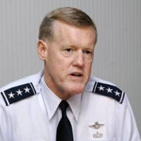 Lt. Gen. Bruce Wright, commander of U.S. Forces Japan, is interviewed in Tokyo in late June. | YOSHIAKI MIURA PHOTO