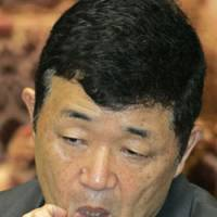 Former vice Defense Minister Takemasa Moriya appears as a sworn witness before a special House of Representatives committee on Monday. | AP PHOTO