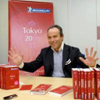 Michelin guides Director Jean-Luc Naret speaks about the famous restaurant guide during a recent interview in Tokyo's Iidabashi district. | YOSHIAKI MIURA PHOTO