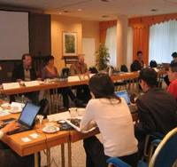 German and Japanese nongovernmental organizations meet prior to the 2007 Group of Eight Summit in Germany. Major NGO representatives from the G8 countries and developing nations will gather in Hokkaido this year for the 2008 summit. | PHOTO COURTESY OF AKIHIRO TAKAGI