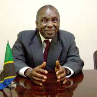 Tanzanian Ambassador to Japan Elly Elikunda Elineema Mtango is interviewed at his mission in Tokyo on March 27. | KAHO SHIMIZU PHOTO