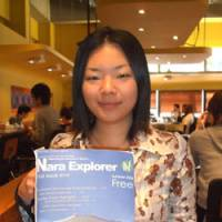 Cut to the chase: Aya Okubo, editor of Nara Explorer, holds the premiere edition of the free magazine for foreign visitors earlier this month. | ERIC JOHNSTON PHOTO