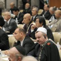 Peace parley: Religious leaders from around the world gather Wednesday in Sapporo to discuss peace ahead of the Group of Eight summit in Hokkaido next week. | KYODO PHOTO