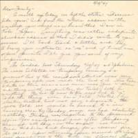 Eyewitness account: The first page of the Feb. 18, 1947, letter written by Elizabeth Ryan. | COURTESY OF KEN ALLEY PHOTO