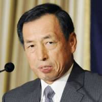 I see it my way: Former Air Self-Defense Force chief of staff Toshio Tamogami speaks Monday at the Foreign Correspondents' Club of Japan in Tokyo. | KYODO PHOTO