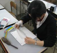 Work in progress: A student works on a project at Tokyo Animator College. | ALEX MARTIN PHOTO