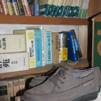 Sole survivors: Shoes that Norio Nagayama prepared in case he was ever pardoned are kept at a supporter's home, together with mementos like his jailhouse dictionaries. | KYODO PHOTO