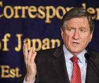 Meet the press: U.S. Special Representative for Afghanistan and Pakistan Richard Holbrooke speaks to the media Saturday in Tokyo. | AP PHOTO