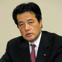 Read my lips: Democratic Party of Japan Secretary General Katsuya Okada is interviewed Tuesday at the party's headquarters in Tokyo. | SATOKO KAWSAKI PHOTO
