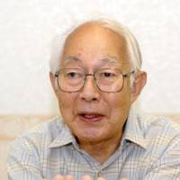 Prepared to serve: Kotaro Kaneko, 81, talks about his experience in the elite Imperial Japanese Army Academy in Chiyoda Ward, Tokyo, on Aug. 20. | YOSHIAKI MIURA PHOTO
