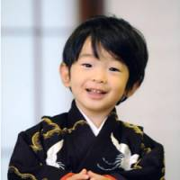 Birthday boy: Prince Hisahito poses for a photo in Tokyo earlier this month. | KYODO PHOTO