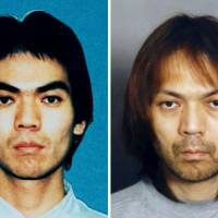 Then and now: Photos show Aum Shinrikyo fugitive Makoto Hirata, who surrendered on New Year's Eve after almost 17 years on the run, after he was placed on a wanted list in 1995 (left) and as he looks at present. | KYODO