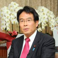 Abduction answers: Jin Matsubara, National Public Safety Commission chairman and state minister in charge of consumer affairs, food safety and the North Korean abduction issue, is interviewed in Tokyo on Friday. | SATOKO KAWASAKI