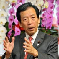 Reform-minded: Education minister Hirofumi Hirano is interviewed at the education ministry Monday. | YOSHIAKI MIURA
