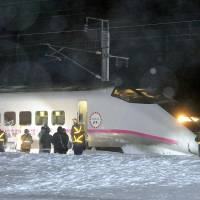 Bullet train on Akita Shinkansen Line derails; no injuries reported