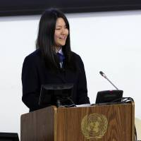 Japanese student tells U.N. how youth are reshaping tsunami-hit areas