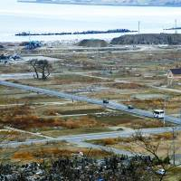 The cupboard is bare: The devastation caused by the tsunami on March 11, 2011, still dominates the landscape of the Kadonowaki district in Ishinomaki, Miyagi Prefecture. | SATOKO KAWASAKI