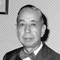 The nuclear option: U.S. Ambassador to Japan Douglas MacArthur II in 1958 told U.S. government officials that then-Prime Minister Nobusuke Kishi (left) and Vice Foreign Minister Hisanari Yamada were exploring the possiblity of Japan acquiring 'defensive' nuclear weapons, newly unclassified documents show. | KYODO