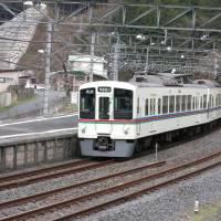 On borrowed time?: A Seibu Chichibu Line train departs from Agano Station in Hanno, Saitama Prefecture, on Tuesday. | KAZUAKI NAGATA