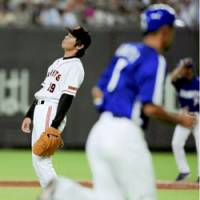 Hard times: Yomiuri Giants star Koji Uehara is 2-4 with a 6.46 ERA this season. | KYODO PHOTO
