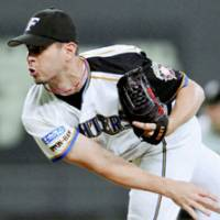 Late surge: Ryan Glynn was 4-2 with a 1.75 ERA in his last seven regular-season starts as the Hokkaido Nippon Ham Fighters fought their way into the Pacific League playoffs. | AP PHOTO