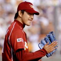 August rush: Hisashi Iwakuma is 3-0 with a pair of complete-game victories for the Tohoku Rakuten Eagles this month. | KYODO PHOTO