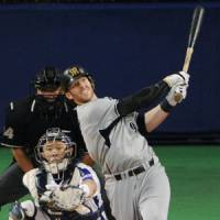 History beckons: Hanshin's Matt Murton is closing in on Ichiro Suzuki's single-season NPB record of 210 hits. | KYODO PHOTO