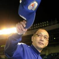 Not good enough: Hiromitsu Ochiai wasn't able to guide the Chunichi Dragons to another Japan Series crown. | KYODO PHOTO