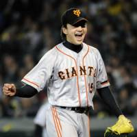 Good sign: Rookie Hirokazu Sawamura has been one of the few bright spots in the Yomiuri rotation. | KYODO