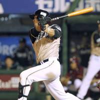 Finally: Sho Nakata is off to a hot start for the Hokkaido Nippon Ham Fighters. | KYODO