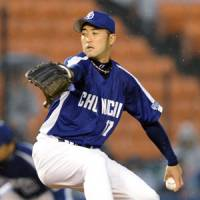 Fall classic revisited: Dragons southpaw Yudai Kawai competes against the Marines, Chunichi's 2010 Japan Series foe, on Tuesday in the series opener at QVC Marine Stadium. | KYODO