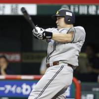 Must be the socks: Seibu's Takeya Nakamura leads the NPB with 26 home runs this season. | KYODO