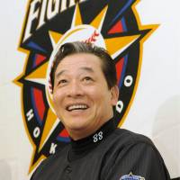 Lofty goal: Despite his announced departure after the season, Fighters manager Masataka Nashida says he'll try to lead his team to a Japan Series title. | KYODO PHOTO
